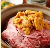 博多中洲うに屋将のおすすめメニュー1A5和牛と雲丹のすき焼き